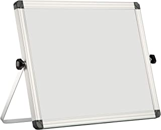 "Small Dry Erase Board with Stand, OUSL 14"" x 11"" Mini Magnetic White Board Easel for Kids Double-Sided Portable Table Top Desktop Board"