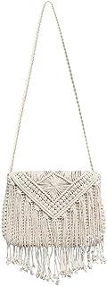 AFfeco Woven Vintage Tassel Shoulder Handbags Women Flap Crossbody Bags Summer/Travel/Street Beat/Work/Daily