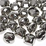 Jingle Bells, 1 Inch Craft Bells Bulk DIY Bells for Christmas Festival Decoration Home Decoration, 50pcs, Silver