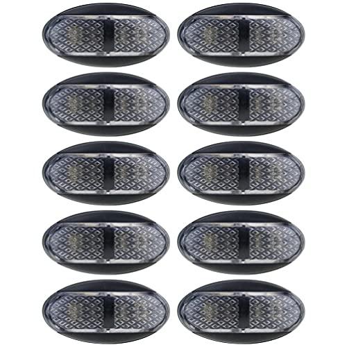 FAVOMOTO 10 Piezas Luces de Parachoques Traseras LED para Coche Camión Remolque Reflector de Cola de Freno Luz Antiniebla Luz de Advertencia Lateral Marcador de Giro para Vehículo