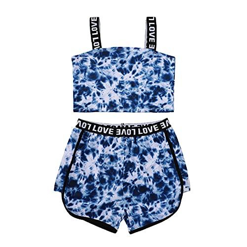 Conjunto de ropa de verano con estampado de letras sin mangas y pantalones cortos