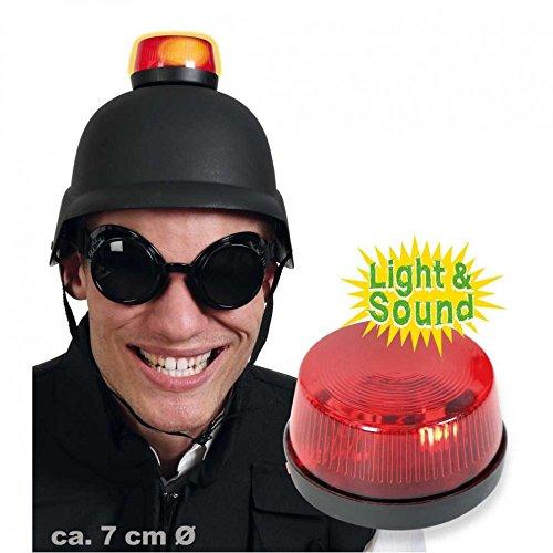 Fritz Fries & Söhne GmbH & Co Helm schwarz mit Blinklicht rot Feuerwehrmann Rettungsdienst Karneval