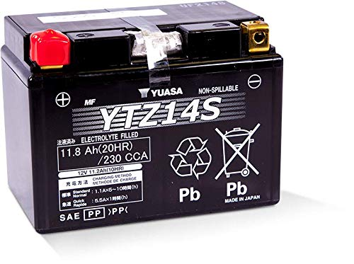 Yuasa Batterie YTZ14S,  12V - 11,2Ah.