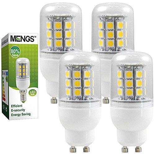 MENGS® 4 Stück GU10 LED Lampe 5W AC 220-240V Kaltweiß 6000K 30x5050 SMD