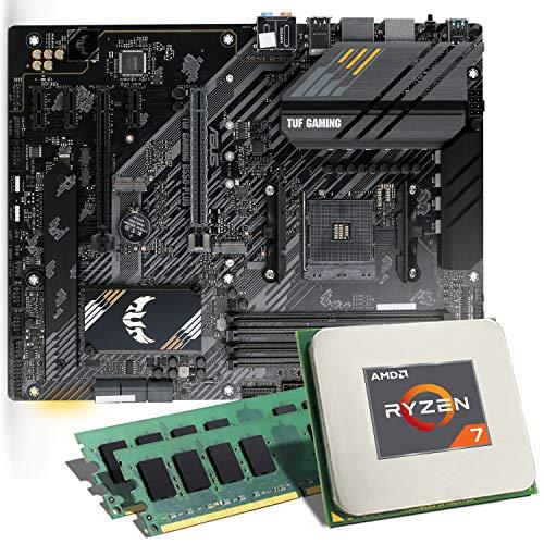AMD Ryzen 7 3800X / ASUS TUF B550-PLUS Gaming Mainboard Bundle / 16GB | CSL PC Aufrüstkit | AMD Ryzen 7 3800X 8X 3600 MHz, 16GB DDR4-RAM, GigLAN, 7.1 Sound, USB 3.1 | Aufrüstset | PC Tuning Kit