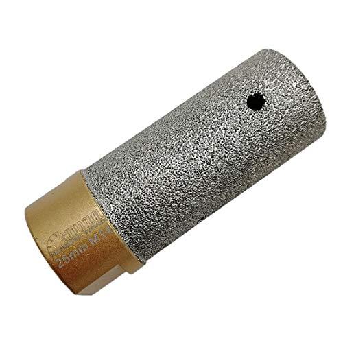 SHDIATOOL Diamant Fingerfräser Durchmesser 25mm M14 Gewinde Vergrößerung vorhandener Löcher in Porzellan Keramik Marmor Granit