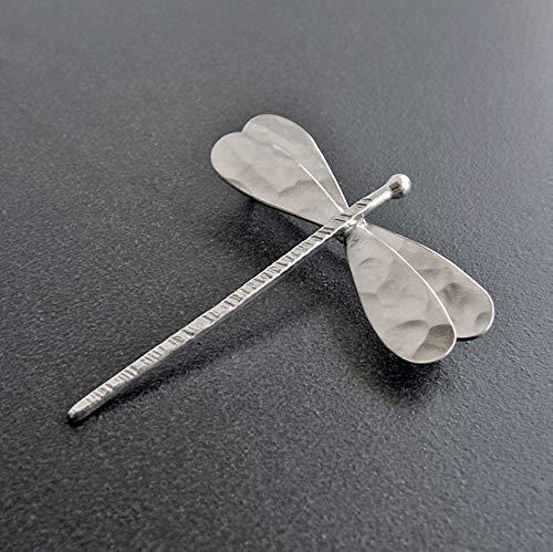 Libélula broche de alfiler, broche de plata, libélula brocha, libél