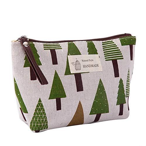 Canvas grote make-up tas zak portemonnee muntzak cosmetische organisator multifunctionele handgemaakte doek tas voor vrouwen 21CM X 13CM