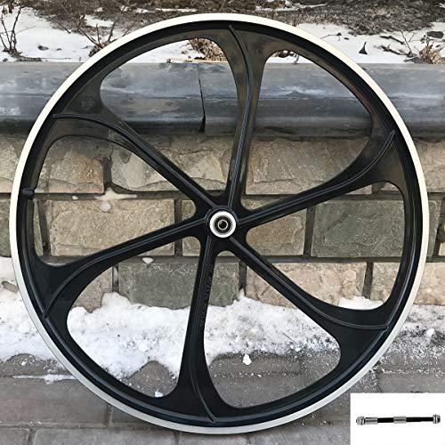 CDHPOWER 26' Rear Mag Wheel Only for Rotary Single Speed Flywheel,Aluminum Alloy Wheel Black Rear Wheel-66cc/80cc/yd100