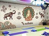 YIERLIFE 3D Tela no tejida Mural de papel pintado Pared - Figura Religiosa De Buda De Yoga Tailandés - 3D Papel Pintado Pared Fotomurales Tejido No Tejido Foto Mural Moderna Diseño Murales Fotográfico