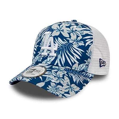 New Era Los Angeles Dodgers MLB Cap New Era Baseball Trucker Kappe Verstellbar Blume Blau - One-Size