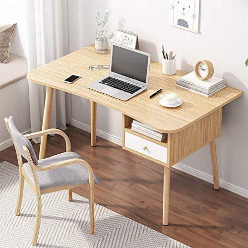 MLECA Escritorio de escritorio de oficina de madera simple para oficina en casa, oficina con cajón, estación de trabajo, escritorio de ordenador, 47 x 24 x 28 pulgadas A