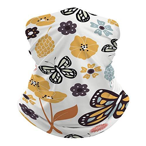 Máscara facial Promini con diseño de mariposa, multicolor, sin costuras, para la cabeza, para mujeres, hombres