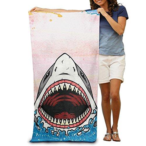 Toallas de Mano,Big Mouth Shark Beach Bath Pool Manta de Toallas Extra Grandes con Capucha para Adultos 80x130cm