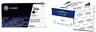 $155 » HP 26A | CF226A | Toner Cartridge | Black & Hammermill Paper, Copy Paper, 8.5 x 11 Paper, Letter Size, 20lb Paper, 92 Bright, 8 Ream Case / 4,000 Sheets (113640C) Acid Free Paper