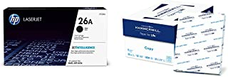 $150 » HP 26A | CF226A | Toner Cartridge | Black & Hammermill Paper, Copy Paper, 8.5 x 11 Paper, Letter Size, 20lb Paper, 92 Bright, 8 Ream Case / 4,000 Sheets (113640C) Acid Free Paper
