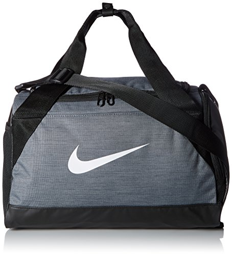Nike Unisex's Brasilia Duffel Bag (Extra Small), Flint Grey/Black/White, XS