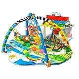 Lionelo Imke 2in1 Spielmatte Baby, Baby Krabbeldecke ab Geburt, Spielzeuge, Haus fr 30 Blle im Set