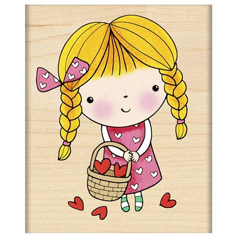 Penny Black 4120H Wood Mounted Rubber Stamp, Basket of Love