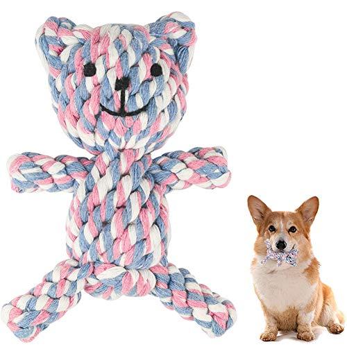 MEKEET Hundespielzeug Hundekauen-Spielzeug-Welpen Langeweile Natürliche Baumwolle Zahnreinigung Chew Spielzeug für kleine Hunde