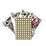 Tela de lino tejido marrón póker jugando magia tarjeta divertido juego de mesa