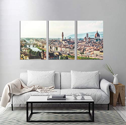 Florence Italy Church Tuscany Panorama Towers Canvas Print Multiple Sizes Wrapped Canvas on Wooden Frame Wall Art for Living Room/Bedroom/Office