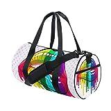 MNSRUU ISAOA Faltbare Tasche für Sport Yoga Sport Reisen Camping Urlaub Mode Duffel Tasche für Damen und Herren Regenbogenfarben Lippen Sport Duffel Tasche für Damen und Herren