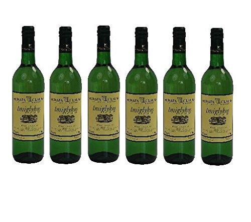 6x Imiglykos Weiß lieblich Achaia Clauss je 750ml 10,5% + 2 Probier Sachets Olivenöl aus Kreta a 10 ml - griechischer weißer Wein Weißwein Griechenland Wein Set