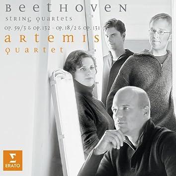Beethoven: String Quartets, Op. 18 No. 2, 59 No. 3, 131 & 132