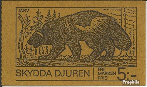 Sverige Mi.-nummer: MH42y (komplett. utgåva) 1973 djur (frimärken för samlare) Däggdjur annat