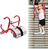 13 Feet Retractable Fire Escape Ladder - Portable Two-Story Emergency Kiddie Safety Window