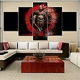 Yyoutop Modular Canvas Painting Home Decoration 5 Piecew God War Picture Modern Impreso Juego Poster para Sala de Estar Wall Artwork Frame-No Frame