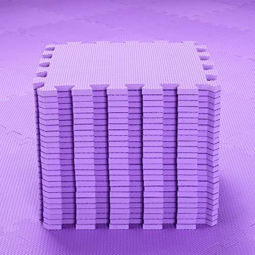 Alfombra Puzzle para Niños Bebe Infantil - Suelo de Goma EVA Suave. 25 Piezas (30 * 30 * 1cm), Morado.QQC-Kb25N