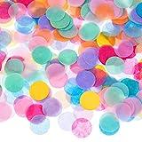 Outus 1 Pulgada Confeti de Papel de Seda Redondo Multicolor, 10000 Piezas