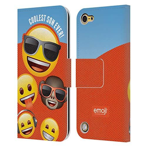 Head Case Designs Officially Licensed by Emoji Coolest Son Celebration Cases Leather Book Wallet Case Cover Compatible with Apple iPod Touch 5G 5th Gen