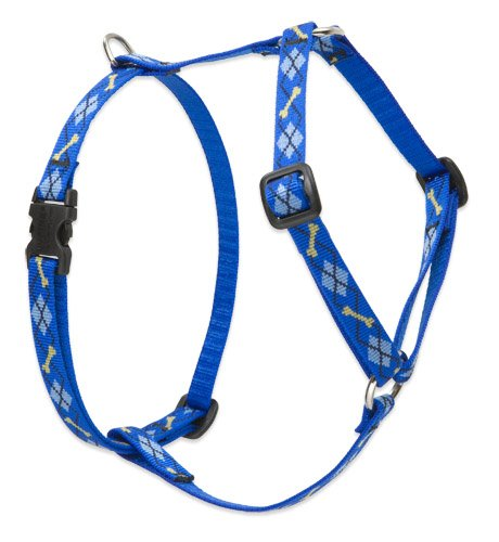 LupinePet Originals 1/2' Dapper Dog 9-14' Adjustable Roman Dog Harness for Extra Small Dogs