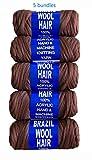 Brazilian Wool Acrylic Yarn for Hair Jumbo Braid /Senegalese Twist /Wraps (Brown 5)