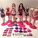 XKMY Barbie Doll Barbie Doll Set Big Gift Star Action Figure Modelos lindos juguetes de bricolaje para niñas muñecas niños princesa Set bolsas de vestir (color: muñeca de moda 4)