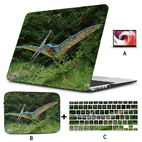 Mac Pro Laptop Case Sensitive Pterosaur Animal Fun MacBook Pro 15 Accessories Hard Shell Mac Air 11'/13' Pro 13'/15'/16' with Notebook Sleeve Bag for MacBook 2008-2020 Version
