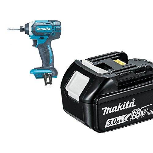 Makita DTD152BL1830 DTD152Z 18V Li-ion Cordless Impact Driver with 1 x 3.0Ah BL1830 Battery, 18 V, Blue, 15 x 10 x 20 cm, Set of 2 Pieces