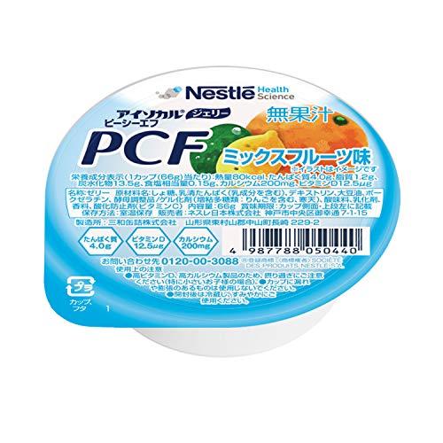 Nestle(ネスレ) アイソカル ジェリー PCF ミックスフルーツ味 ( ビタミンD カルシウム ゼリー) 介護食 栄養補助食品 (66g×24個セット)