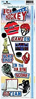 Paper House Productions STCX-0161E Sports Cardstock Stickers, Ice Hockey 2