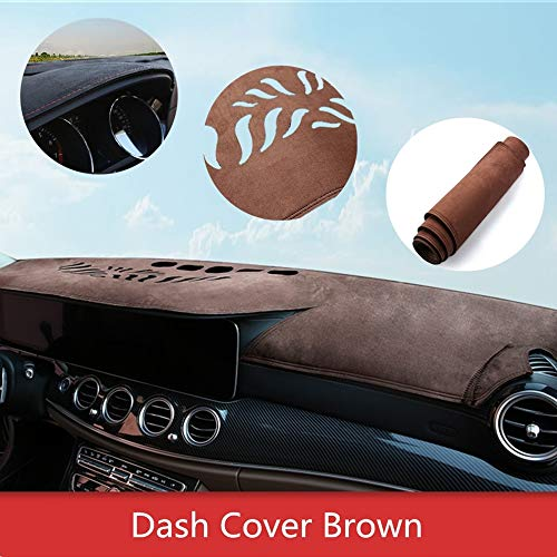 ytbmhhuoupx Dashboard Cover for Lexus IS250 2006-2013 Dashboard Carpet Original Car Custom Dash Mat Anti-Glare Leather Brown