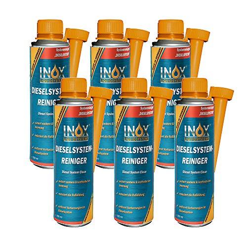 INOX® Diesel Systemreiniger Additiv, 6 x 250ml - Dieselzusatz für alle Dieselmotoren löst Verschmutzung und Verharzung im Dieselsystem