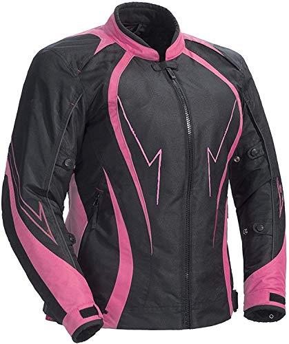 Juicy Trendz Giacca impermeabile delle donne delle signore Armored cordura motociclo della motocicletta Large