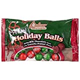 Palmer (1) Bag Holiday Pretzel Balls - Chocolaty Balls filled with Crunchy Pretzel Bits Candy - Green & Red Wrappers - Net Wt. 4.5 oz