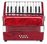Classic Cantabile Secondo acordeón para niños 8 bajos rojo
