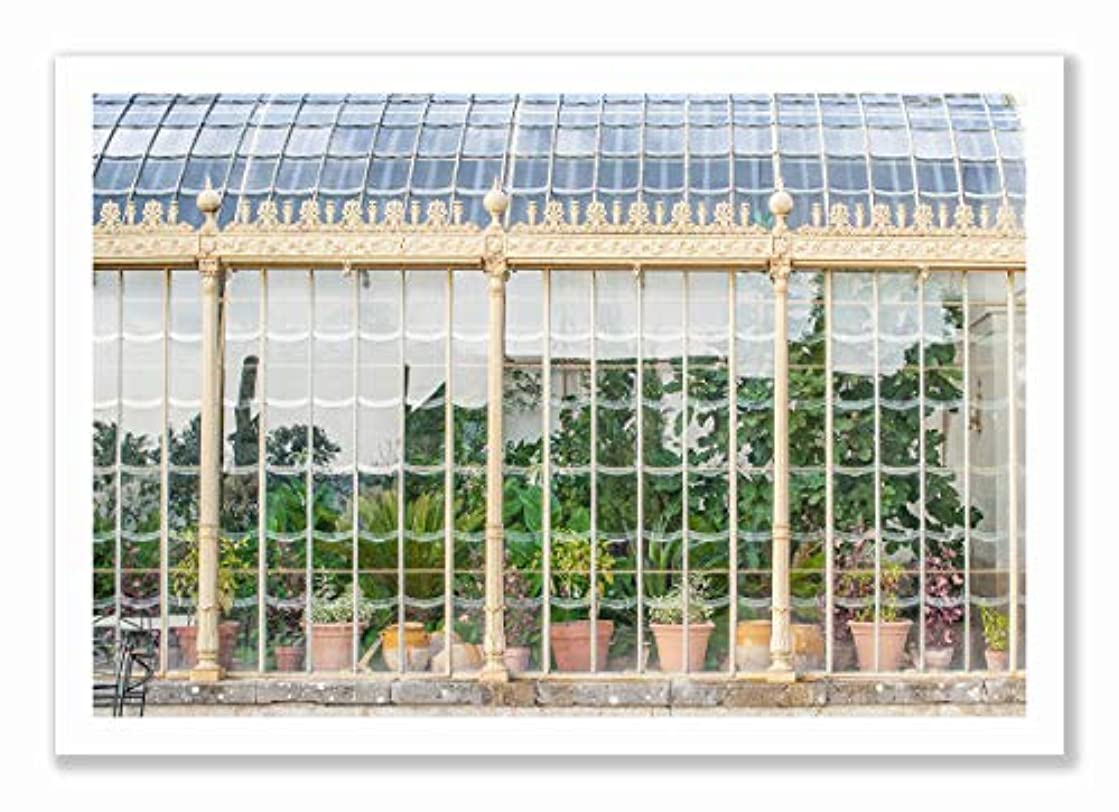 Green House Black Satin Aluminium Frame with Mount, Multicolored, 40x60