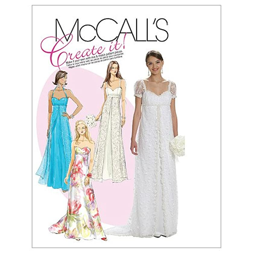 McCall's Patterns M6030 Misses' Lined Dresses, Size A5 (6-8-10-12-14)
