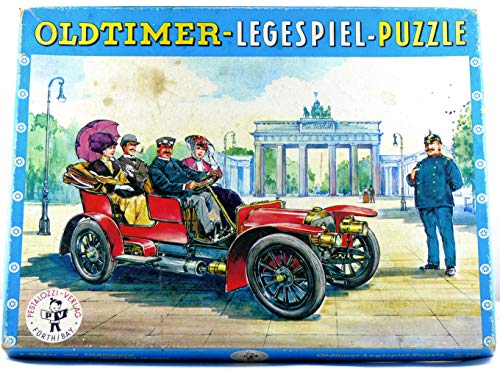 Oldtimer-Legespiel-Puzzle.